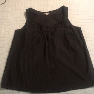 J.Jill sleeveless black top medium